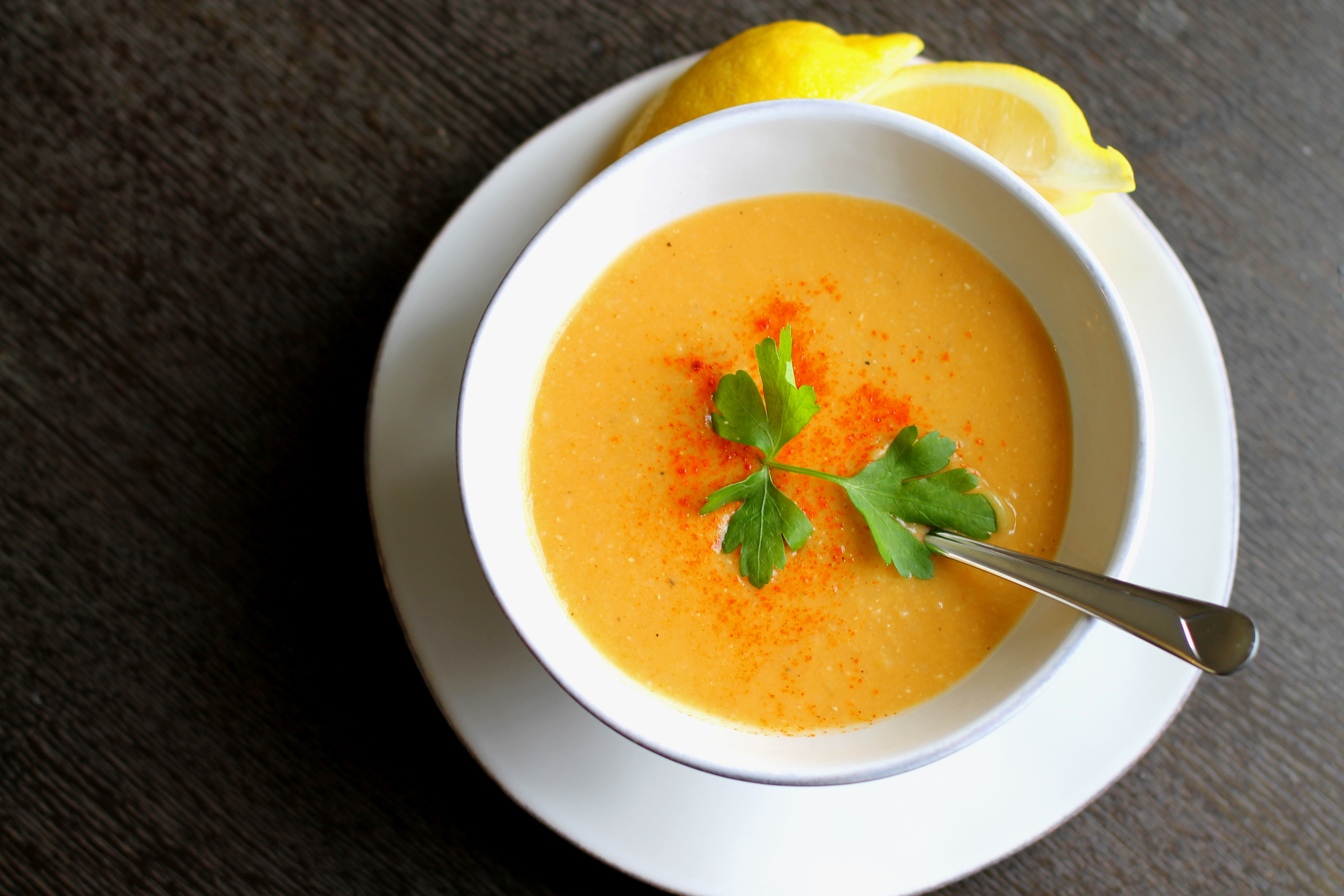 Middle Eastern Red Lentil Soup - The Gourmet Gourmand