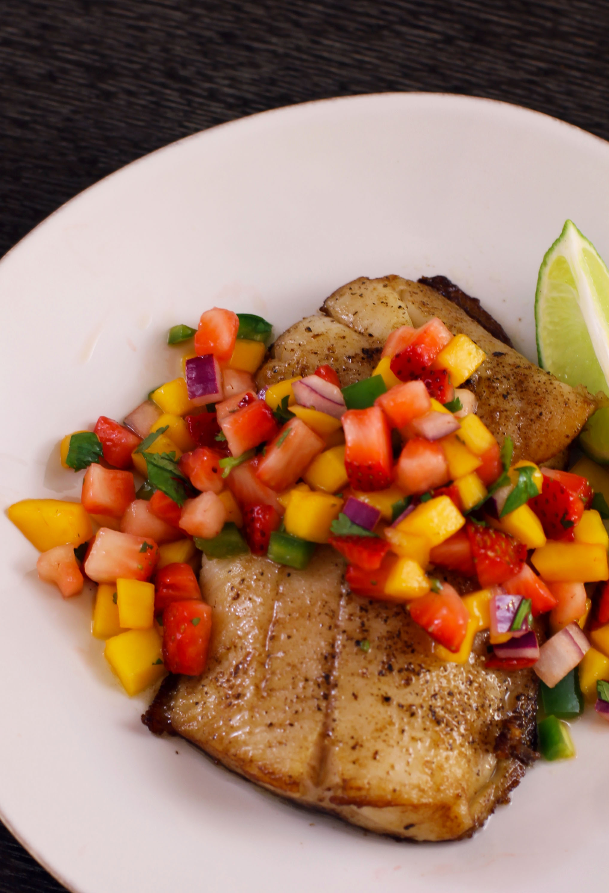 ... strawberry salsa mama latina tips pan seared cod with strawberry salsa